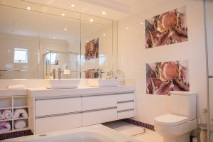 Bathroom of luxury rental home